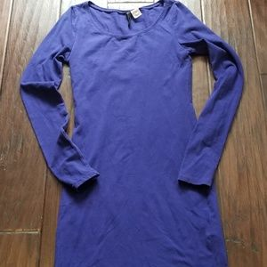 H&M Divided Dress Tunic Top Mini BodyCon Blue